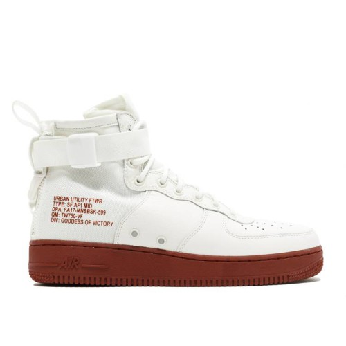 SF Air Force 1 Mid 'Red Ivory'