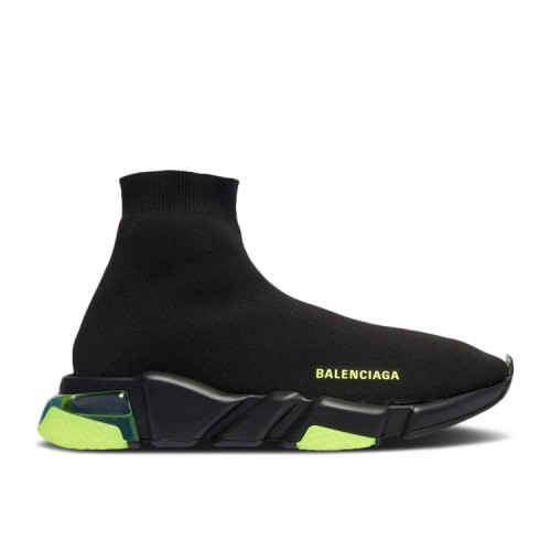 Balenciaga Wmns Speed Clear Sole Trainer 'Black Yellow Fluo'