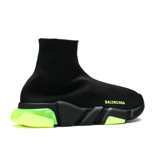 Balenciaga Speed Trainer 'Clear Sole - Black Yellow Fluo'