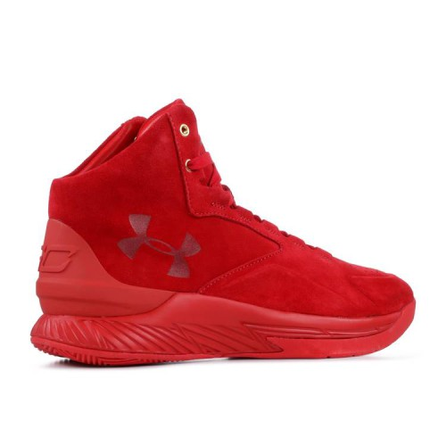 Curry 1 Lux Mid Suede 'Triple Red'
