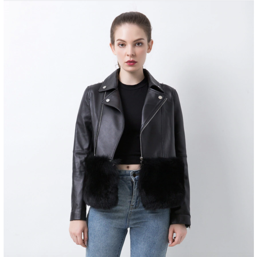Leather jacket with fur, McAllen model